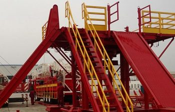A pipe ramp of a USR Drilling rig.