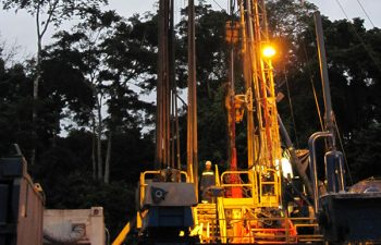 Drilling workers working on USR Drilling rig.