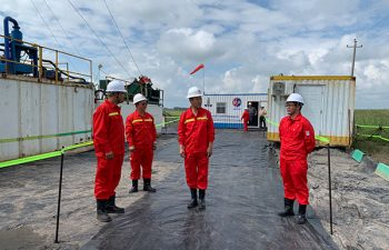 USR Drilling team at drilling site in China.